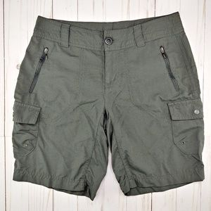 Columbia | Gray Nylon Cargo Shorts
